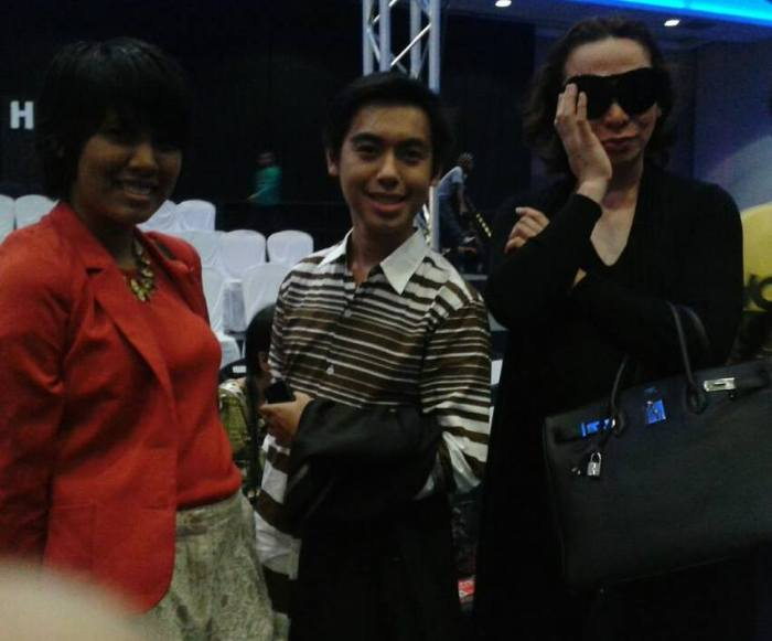 With Bea Malveda and Michael Cinco. Photo by Denisse Agustin